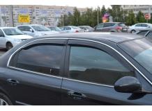 Дефлекторы окон Hyundai Sonata EF /1998-2004, Седан/. Ветровики Хюндай Соната [Cobra]