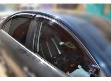 Дефлекторы окон Hyundai Sonata NF /2005-2009, Седан/. Ветровики Хюндай Соната [Cobra]