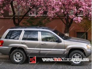 Дефлекторы окон Jeep Grand Cherokee II (WJ) /1999-2004/. Ветровики Джип Гранд Чероки [Cobra]