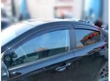 Дефлекторы окон Kia Rio III /2011-2017, Седан/. Ветровики Киа Рио [Cobra]