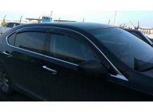 Дефлекторы окон Lexus LS IV /2006-2012, LWB/. Ветровики Лексус ЛС [Cobra]