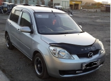 Дефлекторы окон Mazda 2 I /2002-2007/. Ветровики Мазда 2 [Cobra]