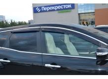 Дефлекторы окон Mazda CX-7 /2006-2012/. Ветровики Мазда СХ-7 [Cobra]