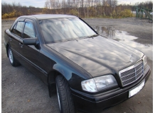 Дефлекторы окон Mercedes C (W202) /1993-2000/. Ветровики Мерседес Ц-класс [Cobra]