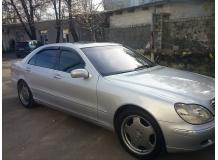 Дефлекторы окон Mercedes S (W220) /LWB, 1998-2005/. Ветровики Мерседес С-класс [Cobra]