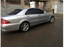 Дефлекторы окон Mercedes S (W220) /SWB, 1998-2005/. Ветровики Мерседес С-класс [Cobra]
