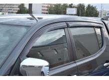 Дефлекторы окон Mitsubishi L200 IV /2006-2015/. Ветровики Мицубиси Л200 [Cobra]