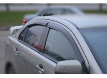 Дефлекторы окон Mitsubishi Lancer X /2007+/. Ветровики Мицубиси Лансер 10 [Cobra]