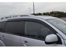 Дефлекторы окон Mitsubishi Outlander II (XL) /2006-2012/. Ветровики Мицубиси Аутлендер [Cobra]