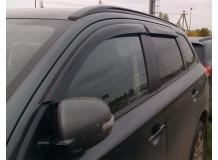Дефлекторы окон Mitsubishi Outlander III /2012+/. Ветровики Мицубиси Аутлендер [Cobra]