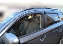 Дефлекторы окон Mitsubishi Outlander III /ES type, 2012+/. Ветровики Мицубиси Аутлендер [Cobra]