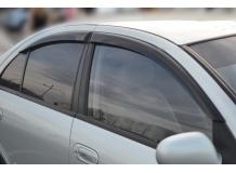 Дефлекторы окон Nissan Almera Classic (B10) /2006-2013/. Ветровики Ниссан Альмера [Cobra]