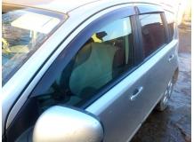 Дефлекторы окон Nissan Note E12 /2012+/. Ветровики Ниссан Ноут [Cobra]