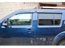 Дефлекторы окон Nissan Pathfinder R51 /2005-2013/. Ветровики Ниссан Пасфайндер [Cobra]