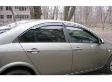 Дефлекторы окон Nissan Primera P12 /Седан, 2002-2008/. Ветровики Ниссан Примера [Cobra]
