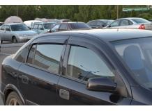 Дефлекторы окон Opel Astra G /Седан, Хэтчбек, 1998-2004/. Ветровики Опель Астра [Cobra]