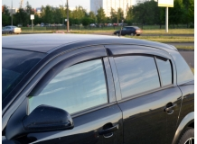 Дефлекторы окон Opel Astra H /Хэтчбек, 2004+/. Ветровики Опель Астра Н [Cobra]