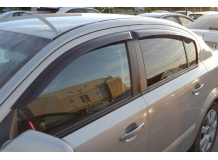 Дефлекторы окон Opel Astra H /Седан, 2007+/. Ветровики Опель Астра Н [Cobra]