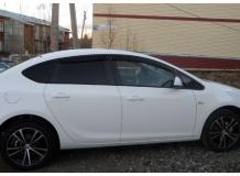 Дефлекторы окон Opel Astra J /Седан, 2012-2015/. Ветровики Опель Астра J [Cobra]