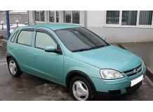 Дефлекторы окон Opel Corsa C /Хэтчбек, 2000-2006/. Ветровики Опель Корса [Cobra]