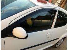 Дефлекторы окон Peugeot 206 /3D, 1998-2012/. Ветровики Пежо 206 [Cobra]