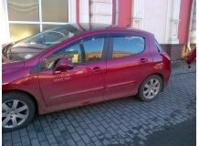 Дефлекторы окон Peugeot 308 I /Хэтчбек, 2007-2013/. Ветровики Пежо 308 [Cobra]