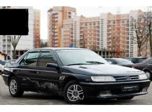 Дефлекторы окон Peugeot 605 /Седан, 1989-1999/. Ветровики Пежо 605 [Cobra]