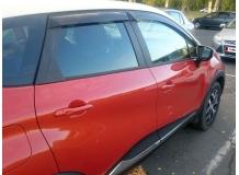 Дефлекторы окон Renault Captur /2013+/. Ветровики Рено Каптур [Cobra]