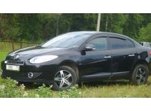 Дефлекторы окон Renault Fluence /Седан, 2009+/. Ветровики Рено Флюенс [Cobra]