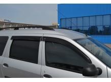 Дефлекторы окон Renault Logan MCV I /2004-2013/. Ветровики Рено Логан МЦВ [Cobra]