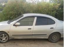 Дефлекторы окон Renault Megane I /Седан, 1995-2002/. Ветровики Рено Меган [Cobra]