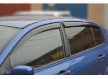 Дефлекторы окон Renault Megane II /Седан, 2002-2008/. Ветровики Рено Меган [Cobra]