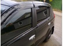Дефлекторы окон Renault Sandero I /2008-2012/. Ветровики Рено Сандеро [Cobra]
