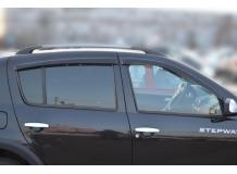 Дефлекторы окон Renault Sandero Stepway I /2010-2013/. Ветровики Рено Сандеро Степвей [Cobra]