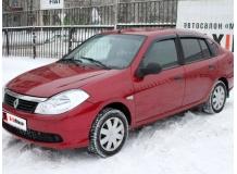 Дефлекторы окон Renault Symbol II /2008-2013/. Ветровики Рено Симбол [Cobra]