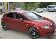 Дефлекторы окон Seat Leon II (1P) /Хэтчбек, 2005-2012/. Ветровики Сеат Леон [Cobra]