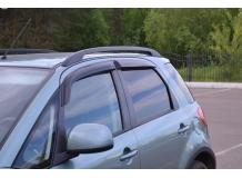 Дефлекторы окон Suzuki SX4 I /Хэтчбек, короткие, 2005-2014/. Ветровики Сузуки СХ4 [Cobra]