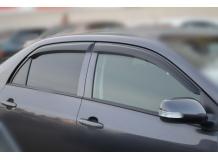 Дефлекторы окон Toyota Corolla X (E140) /Седан, 2006-2013/. Ветровики Тойота Королла [Cobra]