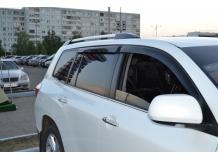 Дефлекторы окон Toyota Highlander II (U40) /2007-2013/. Ветровики Тойота Хайлендер [Cobra]
