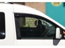 Дефлекторы окон Volkswagen Caddy III /2D, 2004+/. Ветровики Фольксваген Кадди [Cobra]
