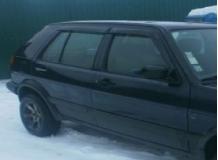 Дефлекторы окон Volkswagen Golf III /Хэтчбек, 1991-1998/. Ветровики Фольксваген Гольф 3 [Cobra]