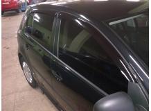 Дефлекторы окон Volkswagen Golf V /Хэтчбек, 2003-2008/. Ветровики Фольксваген Гольф 5 [Cobra]