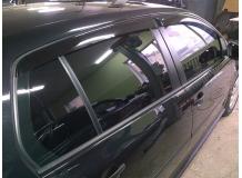 Дефлекторы окон Volkswagen Golf VI /5D, 2008-2012/. Ветровики Фольксваген Гольф 6 [Cobra]