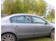 Дефлекторы окон Volkswagen Passat B7 /Седан, 2010-2014/. Ветровики Фольксваген Пассат [Cobra]