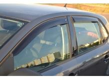 Дефлекторы окон Volkswagen Polo V /2009-2017, Хэтчбек/. Ветровики Фольксваген Поло 5 [Cobra]