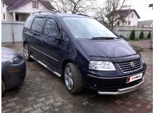 Дефлекторы окон Volkswagen Sharan I /1995-2010/. Ветровики Фольксваген Шаран [Cobra]