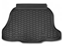 Коврик в багажник Chery Tiggo 2 (3X) /2016+/. Резиновый коврик багажника Чери Тигго [Avto-Gumm]