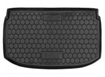 Коврик в багажник Chevrolet Aveo II (T300) /2012+, Хэтчбек/. Резиновый коврик багажника Шевроле Авео [Avto-Gumm]