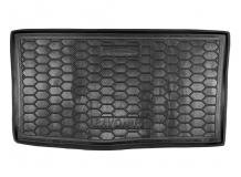 Коврик в багажник Chevrolet Spark III /2012-2015/. Резиновый коврик багажника Шевроле Спарк [Avto-Gumm]