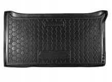 Коврик в багажник Fiat 500 /2007+/. Резиновый коврик багажника Фиат 500 [Avto-Gumm]